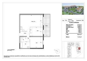 appartement neuf rousset en livraison imm diate t3. Black Bedroom Furniture Sets. Home Design Ideas